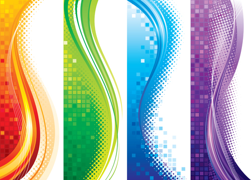 brilliant abstract backgrounds vector 05 for free download