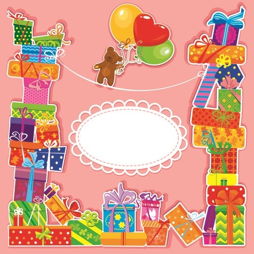 Happy Birthday Gift Cards Design Vector 01