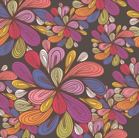 colorful floral background patterns - photo #18
