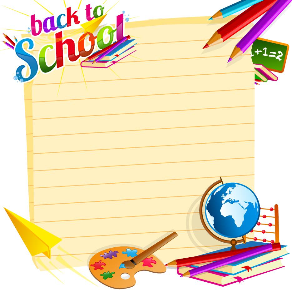 School Backgrounds Set 19 Vector Free Download