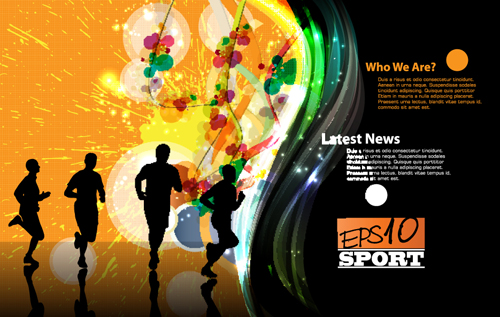 Sports Design Elements Vector Background 02