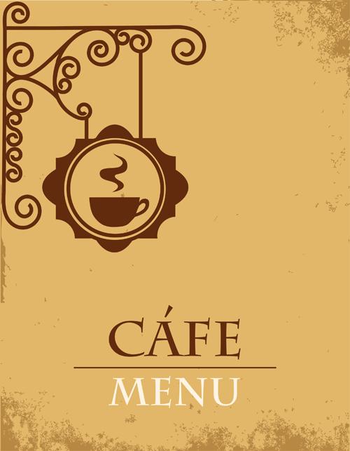 vector of vintage cafe menu background art 01 free download