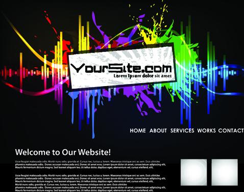 Abstract splash website background vector 01