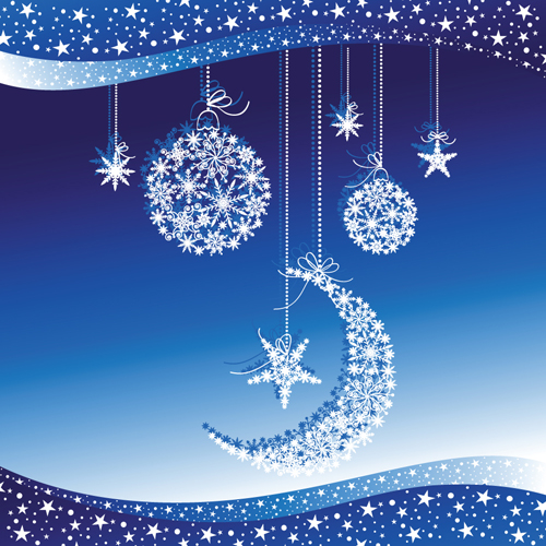 blue style snow backgrounds design vector 04