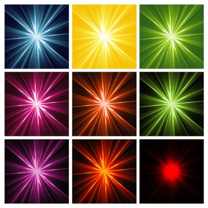 Light Rays Background design vector