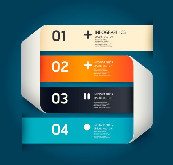 Numbered Infographics elements vector 14