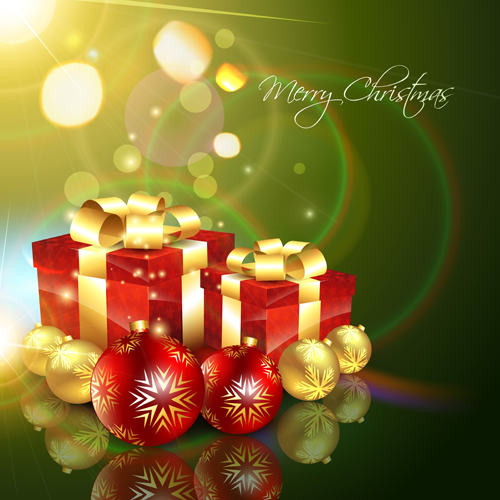 Set of Halation Christmas background art vector graphic 01