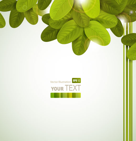 Shiny Leaves vector background 01