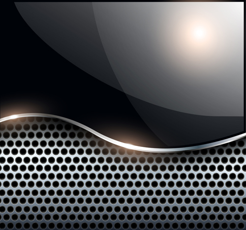 sparkling metal background design elements vector 01