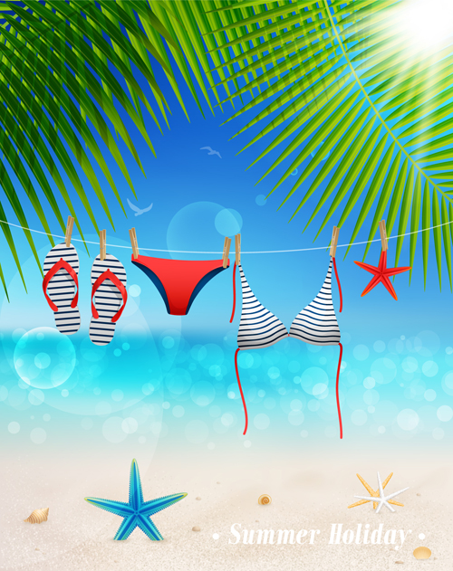 Vintage Summer backgrounds art 03 vector