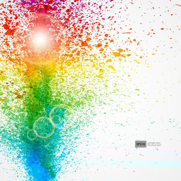 colorful object splash backgrounds vector 02 free download