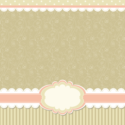 baby frame backgrounds vector 04