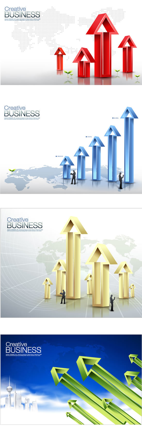 Business data arrow Poster vector graphics