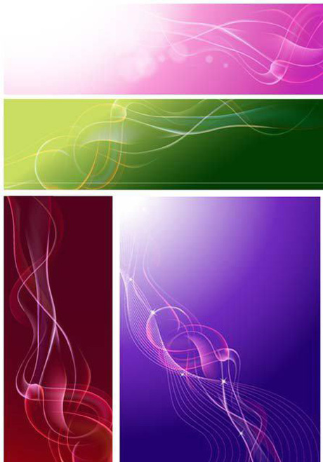 Light smoke backgrounds vector graphic