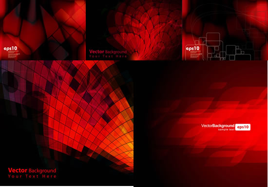 Red luxury pattern background vector
