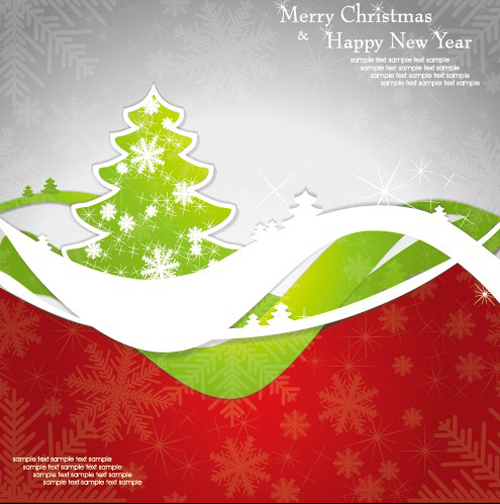 Set of 2013 Christmas and New Year elements vector backgrounds 05