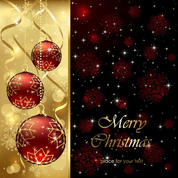 Sparkling Christmas elements vector backgrounds 02