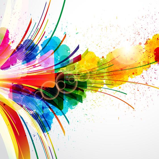 Splash colorful shiny background 01 vector