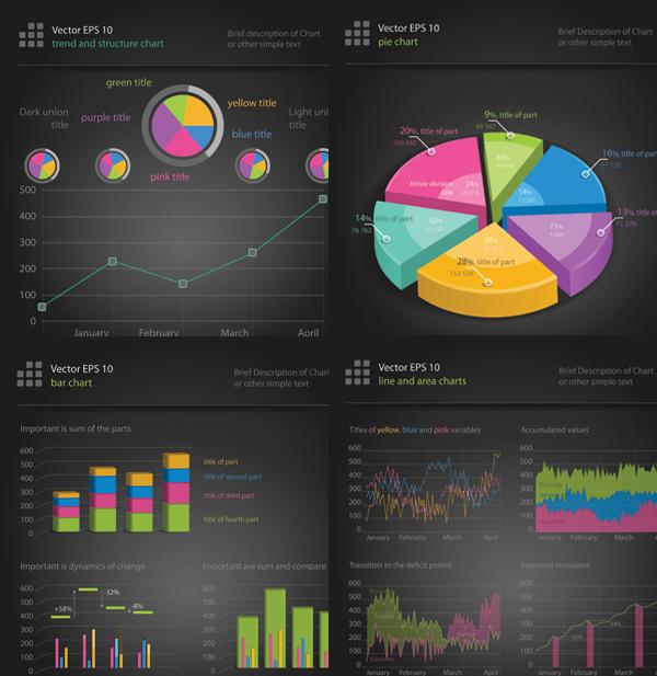 Statistical chart vector