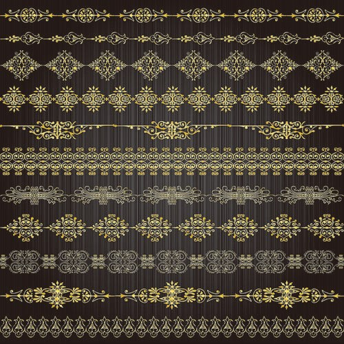 free vector Golden Lacy Pattern 02