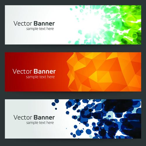 Creative Website Headers Banner Vector Set 01 Free Download