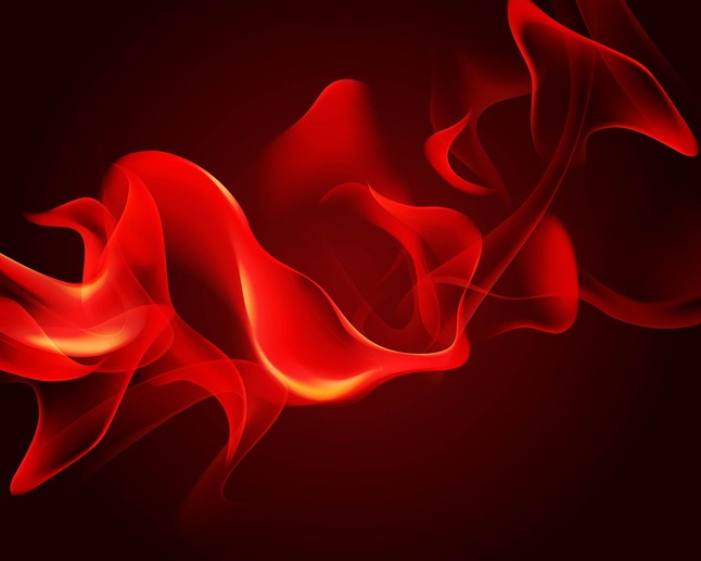 realistic flame background vector