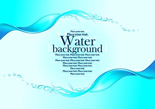 creative water art backgrounds 02 vector