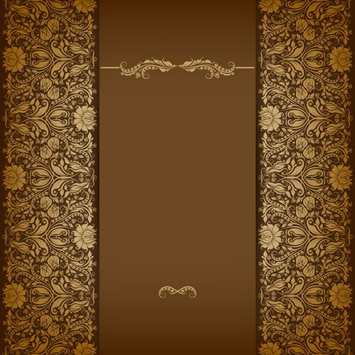 vintage luxury floral background art 06 vector free download. Black Bedroom Furniture Sets. Home Design Ideas