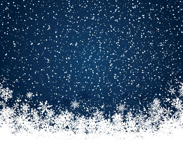 Set Of Snowflake Backgrounds For Christmas Vector 01 For