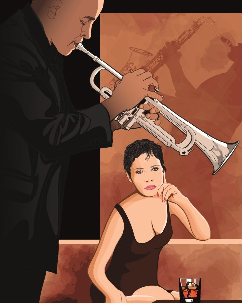 Jazz poster publicize template vector 03
