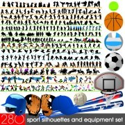 Different Sport Silhouettes vector 02