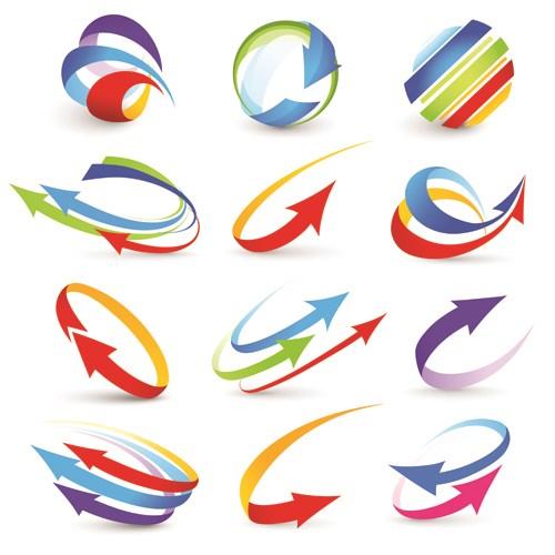 Classroom Design Arrow Or X ~ Vector logo of abstract arrow design elements free