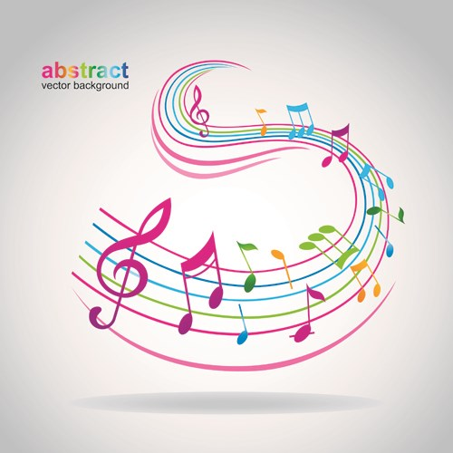 Elements of Sheet Music and design vector 01