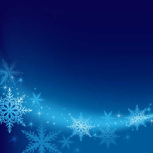brilliant snowflakes winter vector backgrounds 01