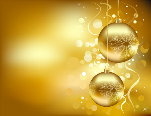 The Set of Christmas balls decor Backgrounds vector 01 will download ...