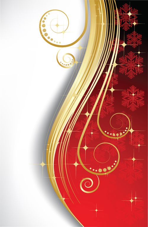 Exquisite Christmas Backgrounds Vector 01 For Free Download
