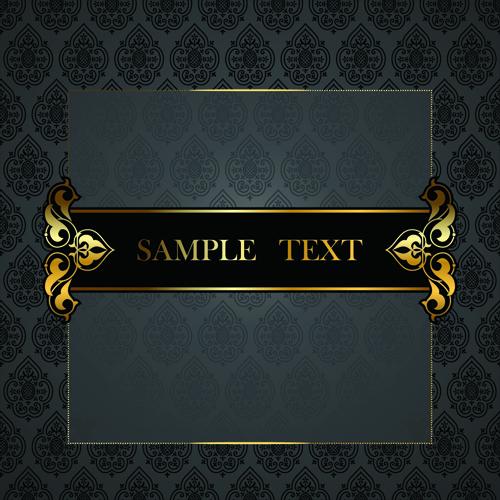 Black Golden ornate Backgrounds vector 03 | Free download