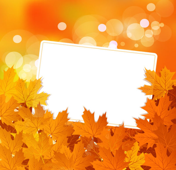 fall of maple leaf elements background vector 07 free download