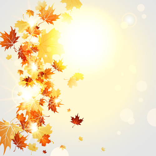 bright autumn leaves vector backgrounds 07