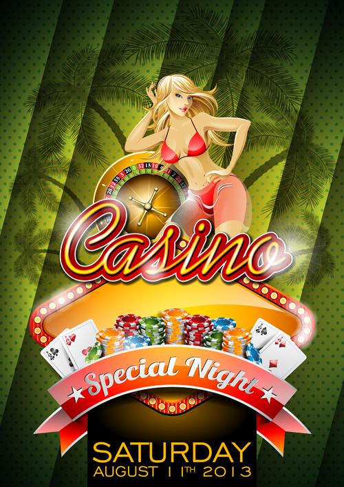 Casino Backgrounds vector 03