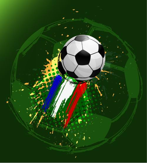 euro cup 2012 Soccer background vector 01