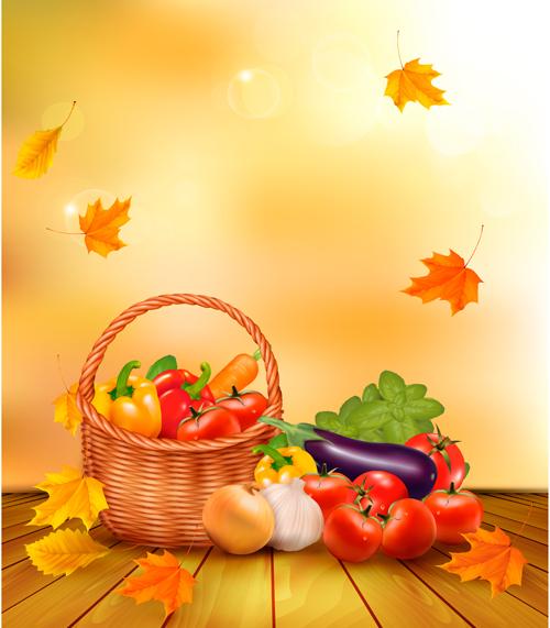 Vector Autumn Leaves Backgrounds art 02