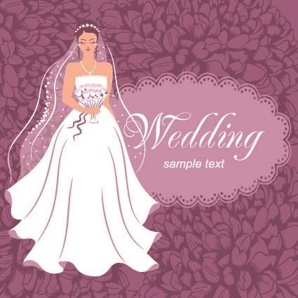 Stylish Wedding card design elements 02 vector