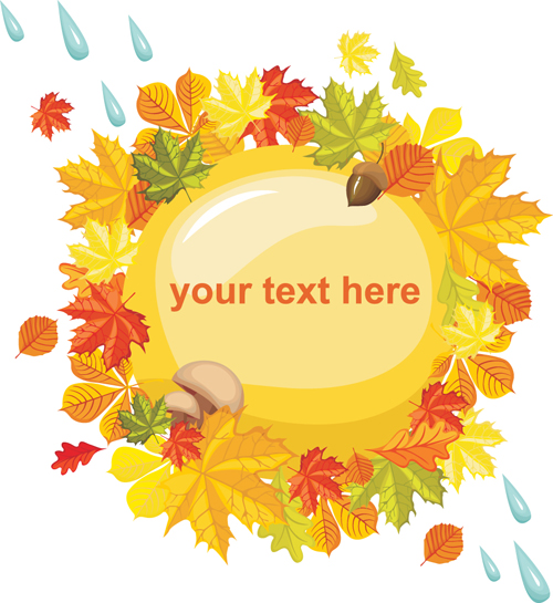 Autumn theme backgrounds art vector 02
