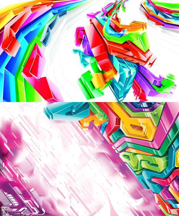 Cool cube background art vector