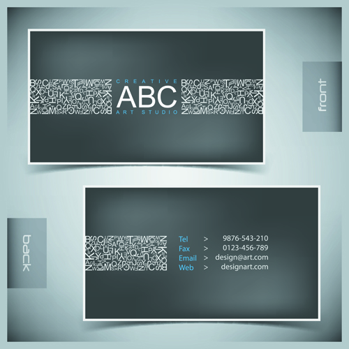 Creative Business Cards Vector background 02