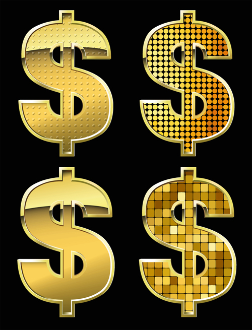 Dollar design elements vector  set 04