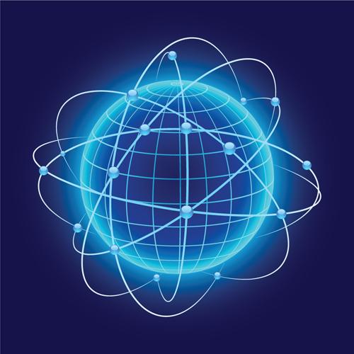 Neon Light beam vector backgrounds set 05