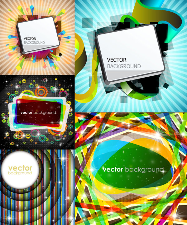 Rectangular graphics bright background vector