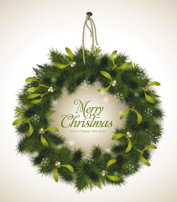 Set of Christmas Pine needles backgrounds vector  02